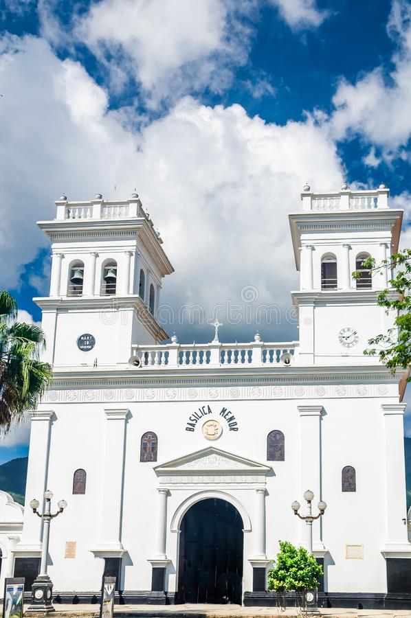 Girona koloniale Kathedraal door Bucaramanga in Colombia stock afbeelding