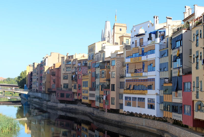 Girona kustlijn stock fotografie