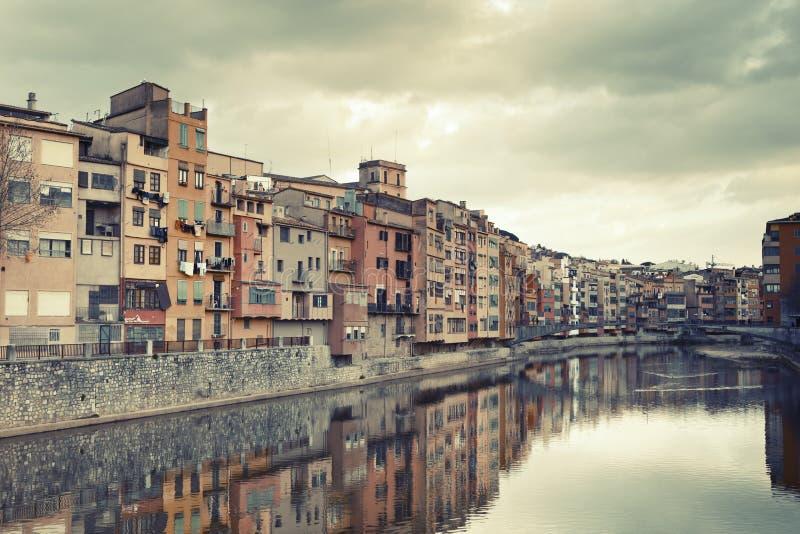 Girona nuvoloso fotografie stock libere da diritti
