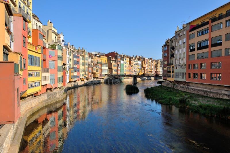 Girona. Spain. Jewish quarter in Girona. Spain stock photos