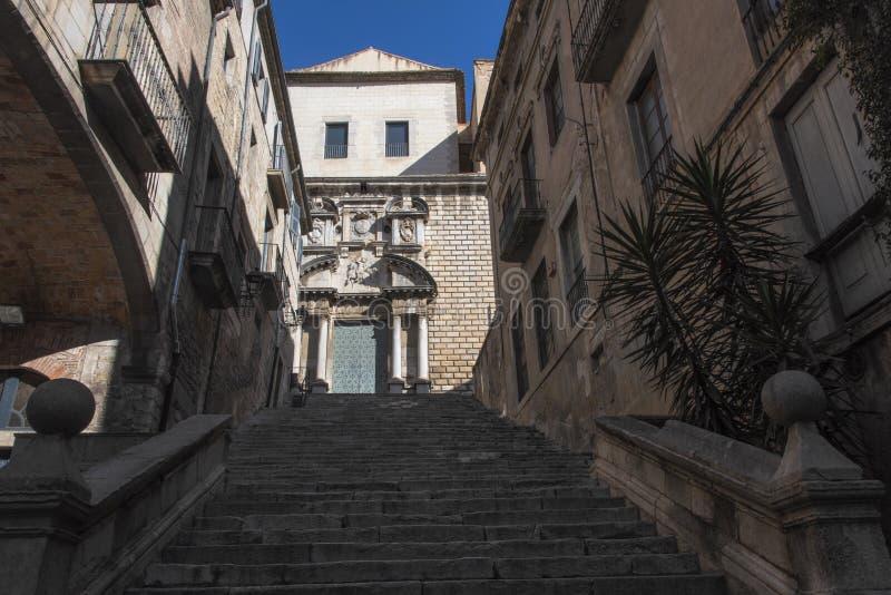Girona stad royaltyfri fotografi