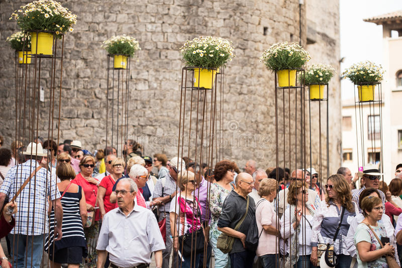 Girona temps de flors immagini stock