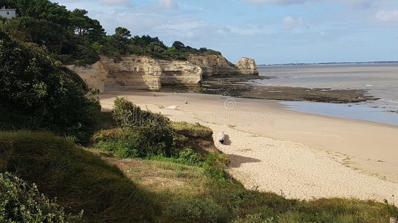 Gironde lös strand arkivfoton