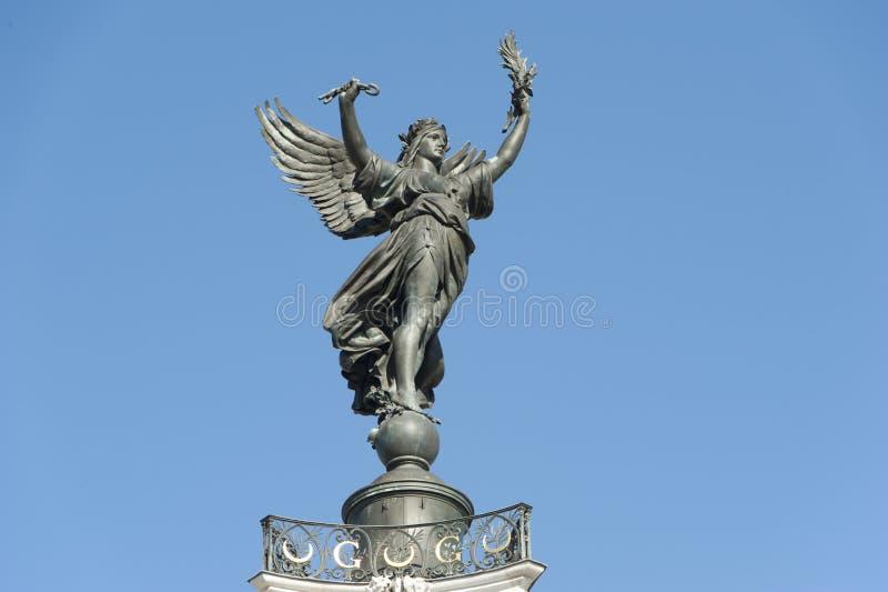 Girondins, estatua de la victoria, Burdeos, Francia imagen de archivo libre de regalías