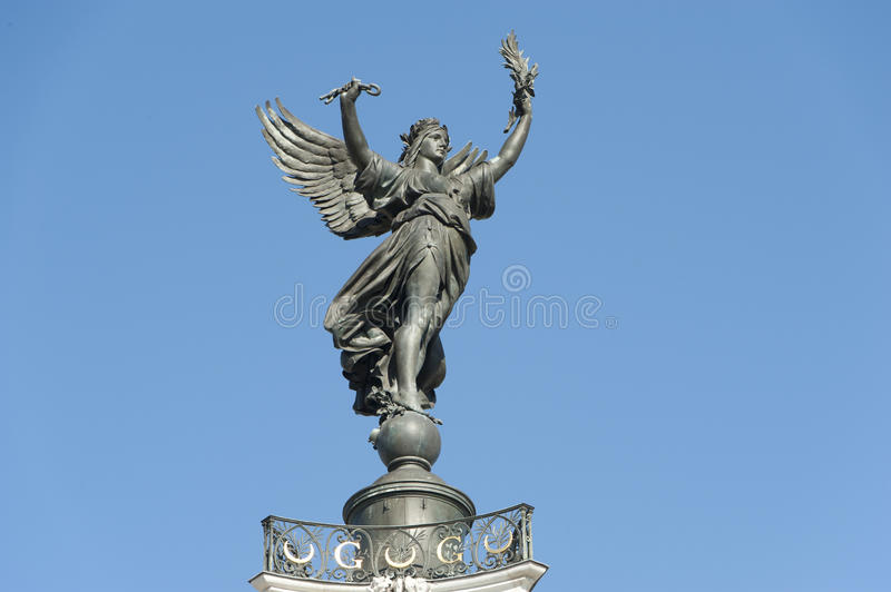 Girondins, statue of victory, Bordeaux, France royalty free stock image