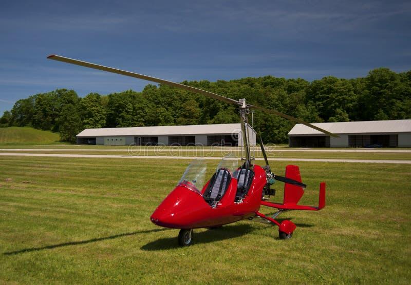 Giroplano rosso della aperto cabina di pilotaggio fotografia stock libera da diritti