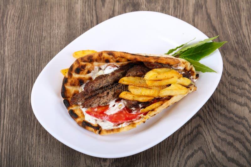 Giroscópios - culinária do grego da tradição fotos de stock