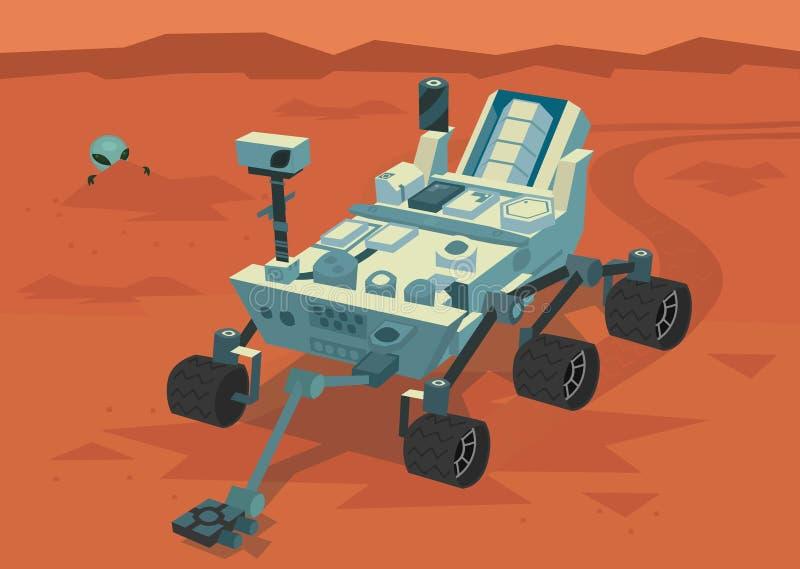 Girovago di ricerca di Marte royalty illustrazione gratis