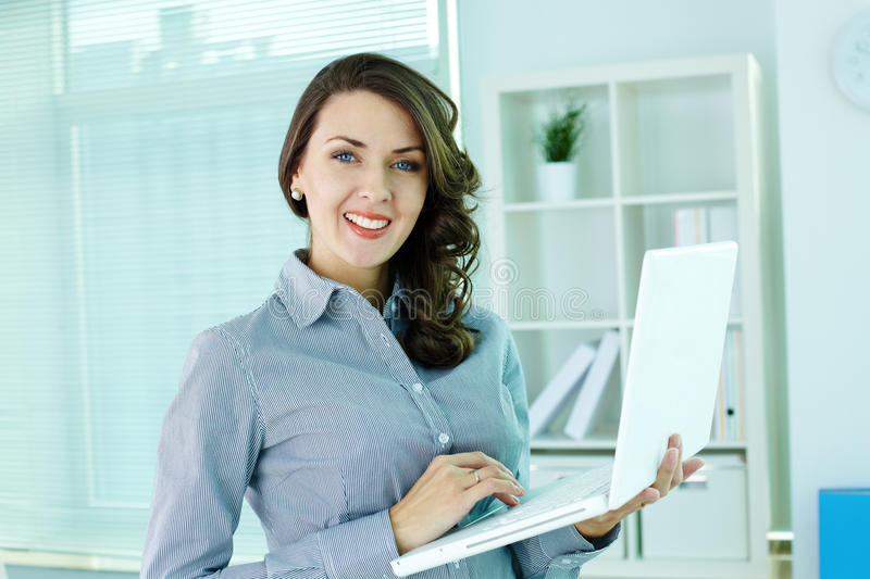Download Girt at work stock photo. Image of lady, computer, executive - 28376066