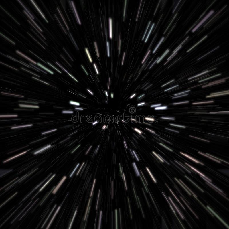 Gisement d'étoile d'espace extra-atmosphérique illustration de vecteur