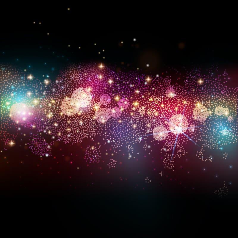 Gisement d'étoile lointain dans l'espace lointain illustration libre de droits