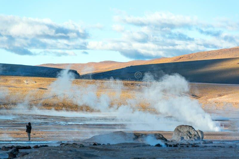 Gisement de geyser d'EL Tatio photo libre de droits