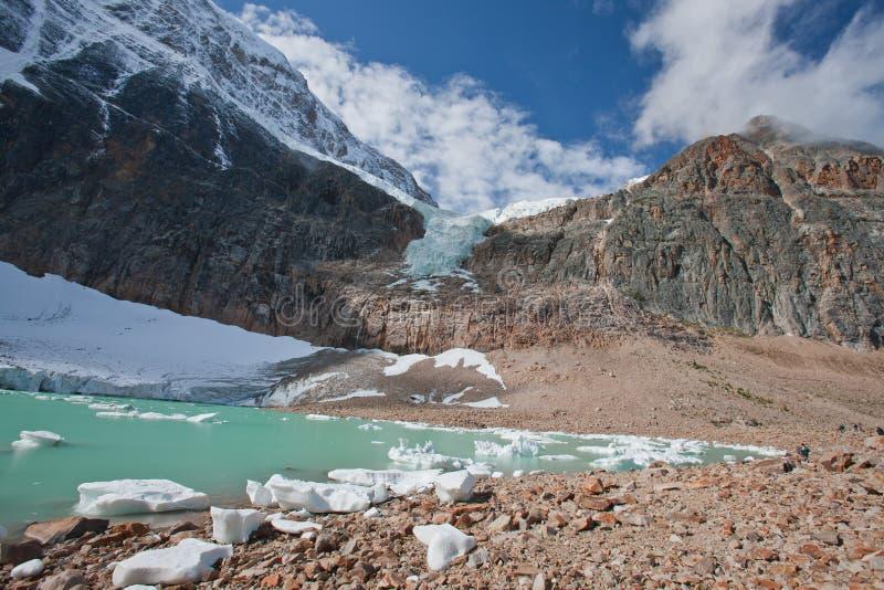 Gisement de glace de Colombie photographie stock libre de droits