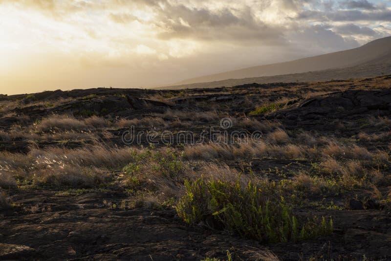 Gisement de lave de coucher du soleil photos libres de droits