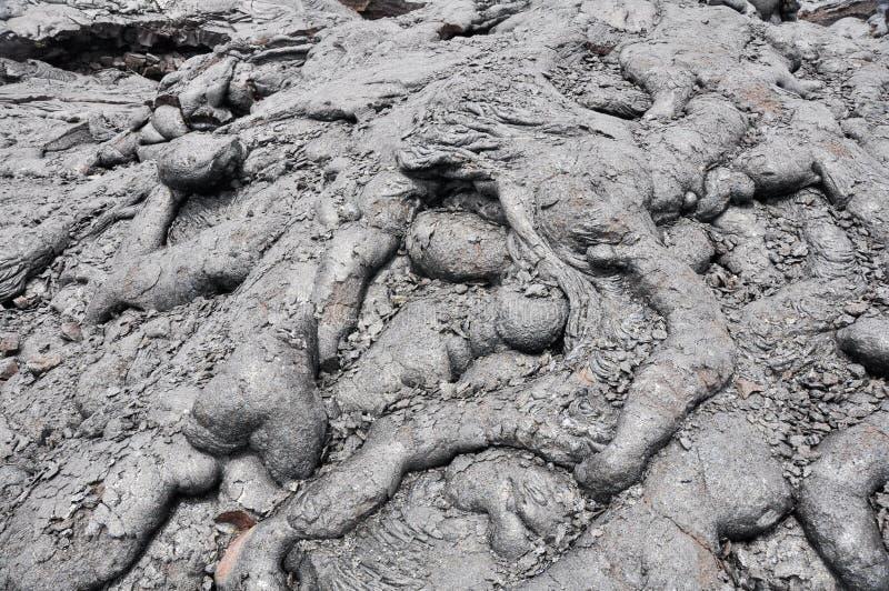 Gisement de lave, grande île, Hawaï image libre de droits