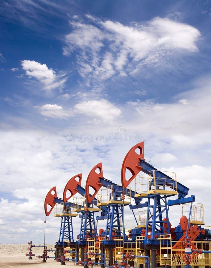 Gisement de pétrole photo libre de droits