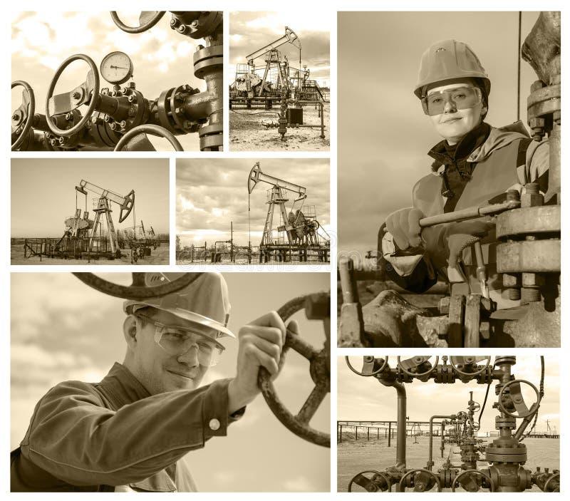 Gisement de pétrole de collage photos libres de droits