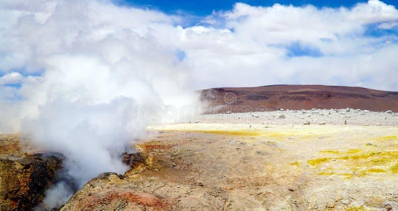 Gisement Sol De Manana, Bolivie, Amérique du Sud de geyser image stock