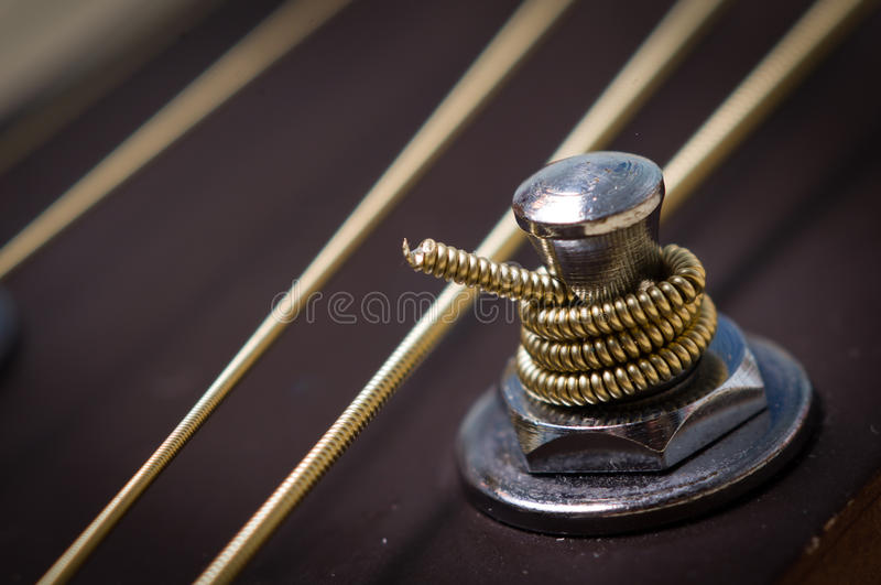 Gitaar Stemmende Pin Stock Afbeelding