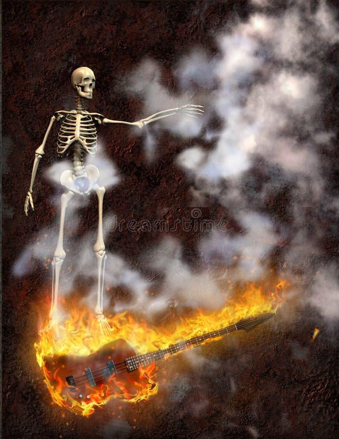Gitaarbrand stock illustratie