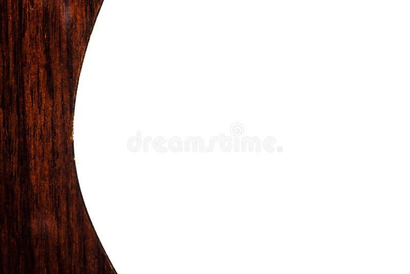 Gitaarlichaam terug op witte achtergrond stock foto