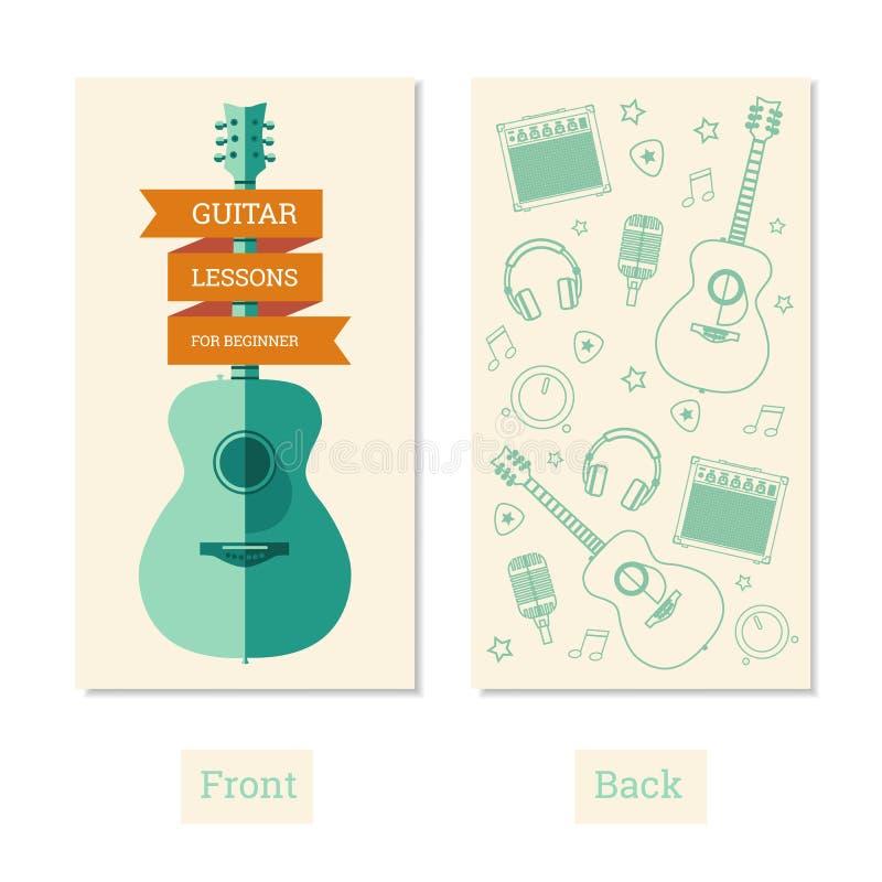 Gitar lekcje royalty ilustracja
