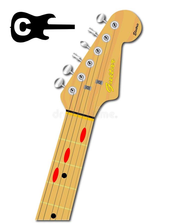 Gitara akord Ważny C ilustracja wektor