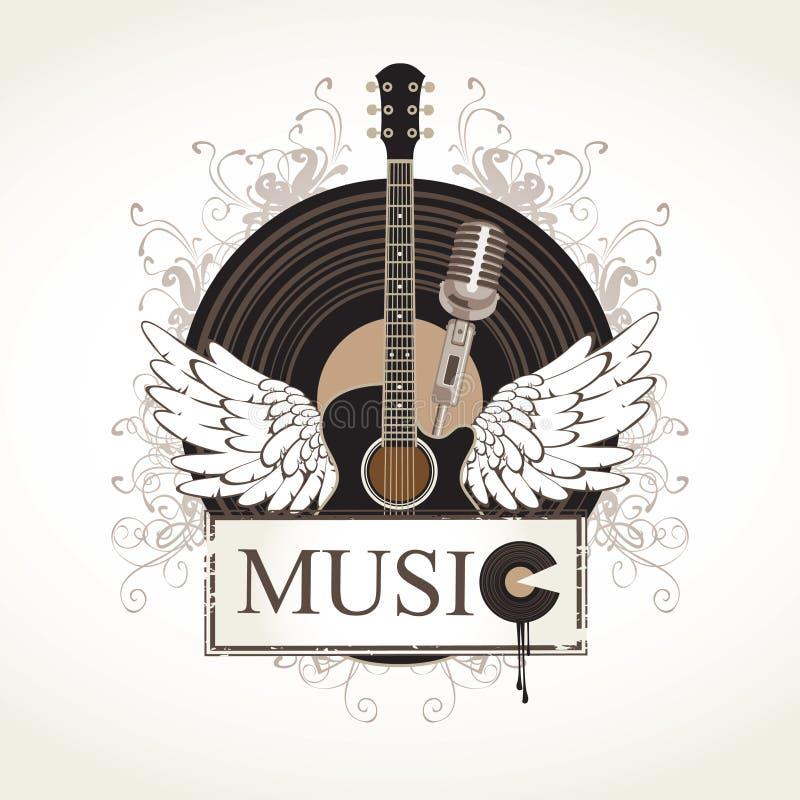 Gitara akustyczna royalty ilustracja