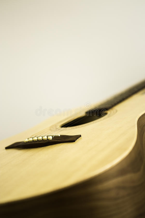 Gitara Akustyczna comber & most fotografia stock