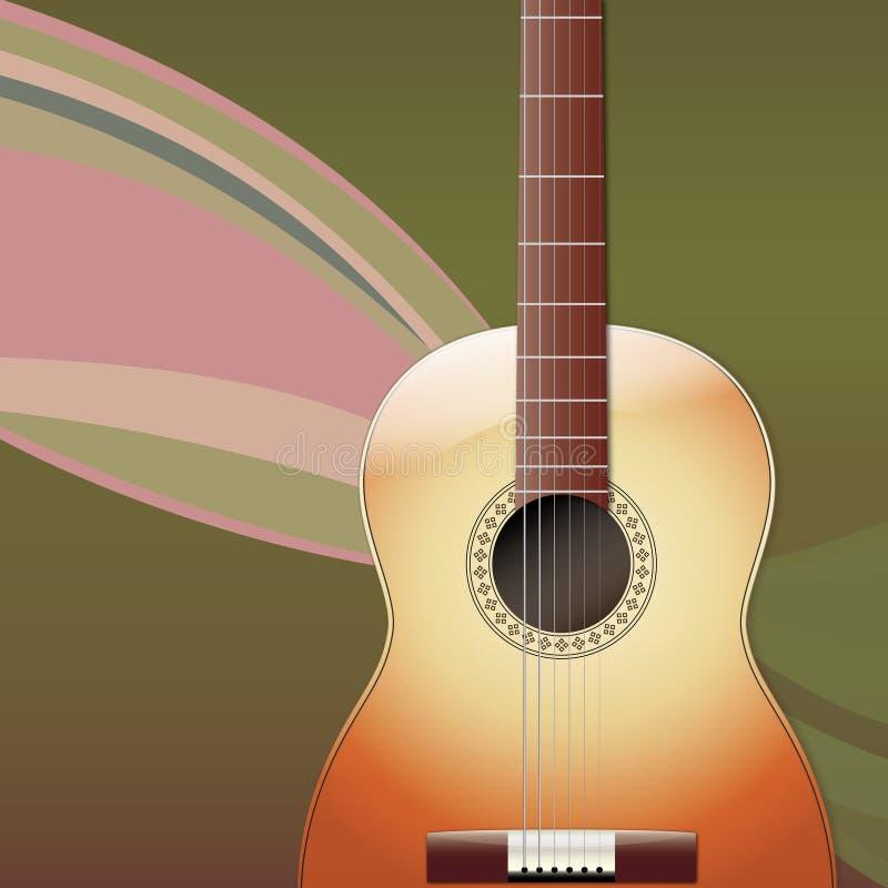 Gitara Akustyczna musicalu tło ilustracji