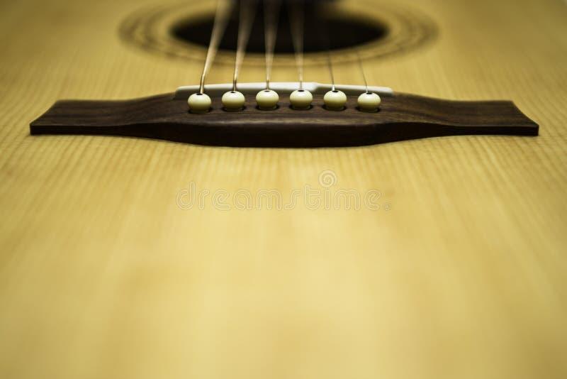 Gitara Akustyczna sznurki & zdjęcie stock