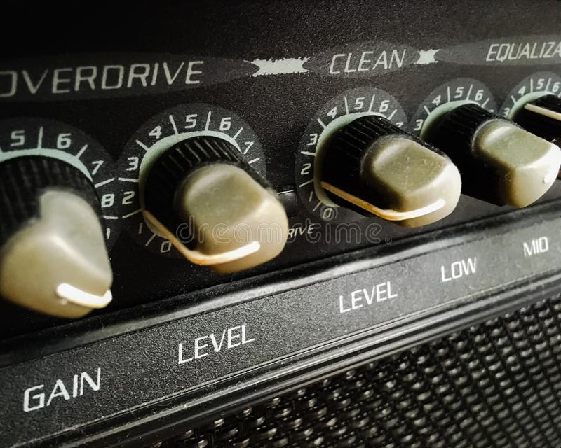 Gitara amp zdjęcia stock