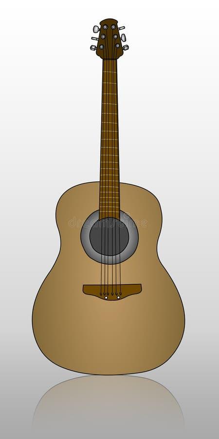 gitara cień. royalty ilustracja