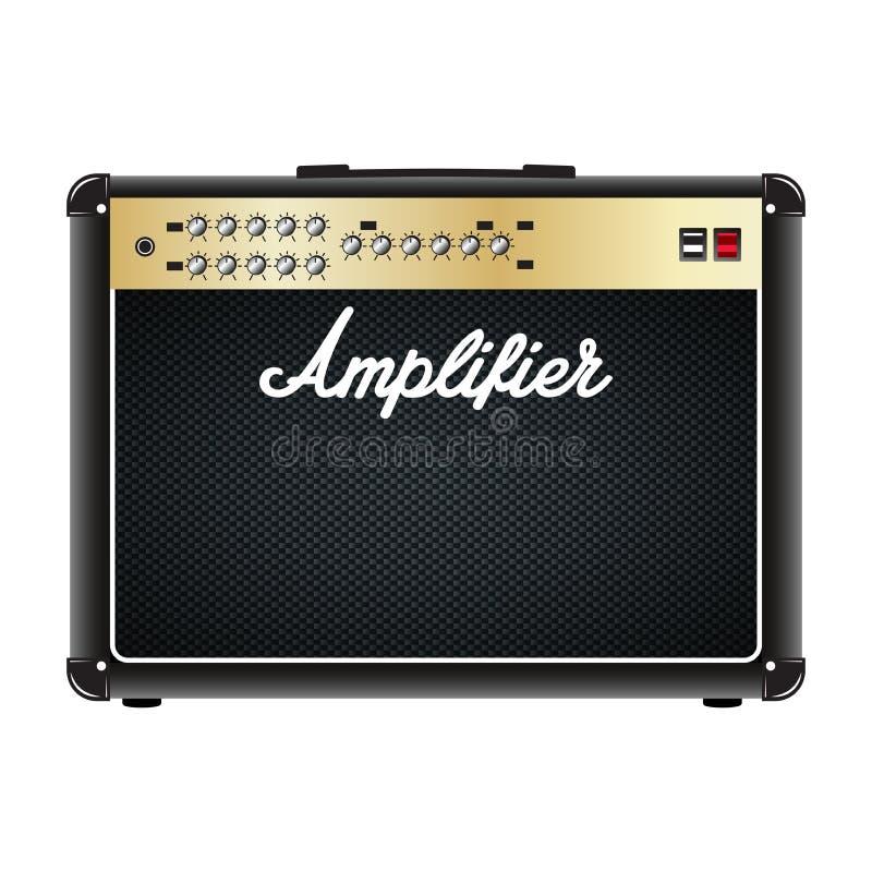 Gitara combo amplifikator, amp royalty ilustracja