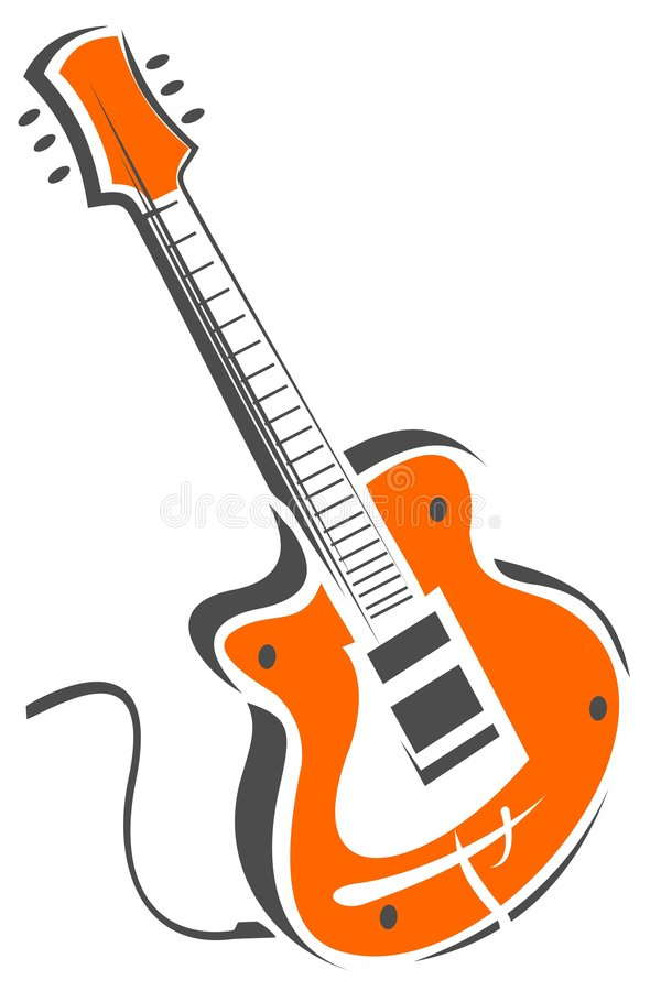 gitara elektryczna royalty ilustracja