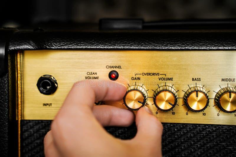 Gitara elektryczny amplifikator tła natychmiastowa muzyczna fotografii druków skała obraz royalty free
