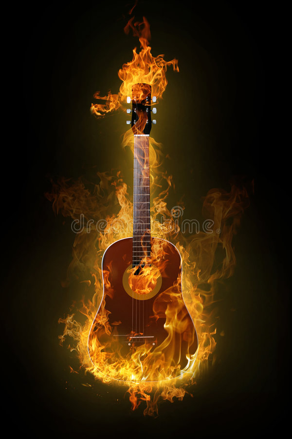 gitara gorąca ilustracja wektor