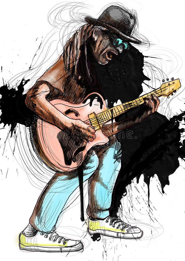 Gitara gracz ilustracji