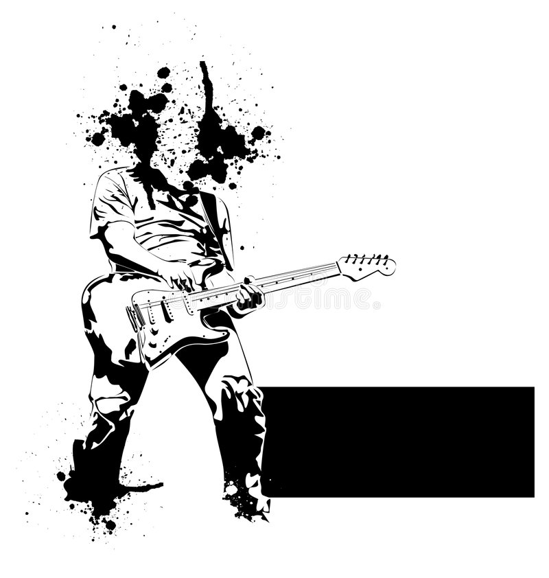 gitara gracz royalty ilustracja