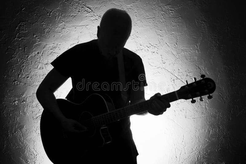 gitara gracz ii obraz royalty free