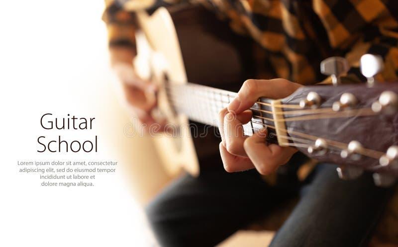 Gitara gracz Z gitar? akustyczn? zdjęcia stock