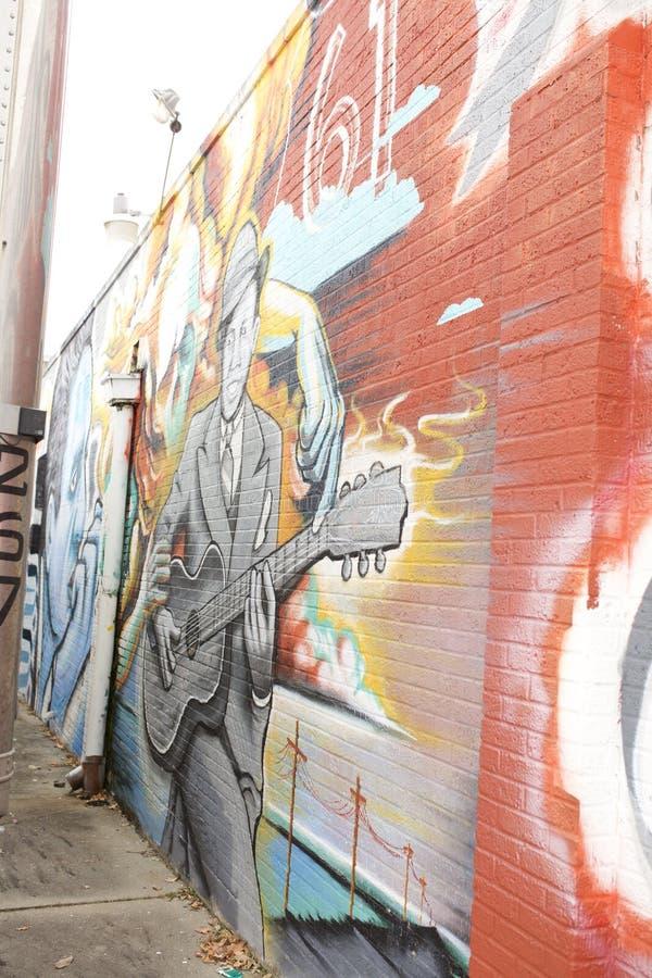 Gitara gracza obraz, Memphis, Tennessee zdjęcia royalty free
