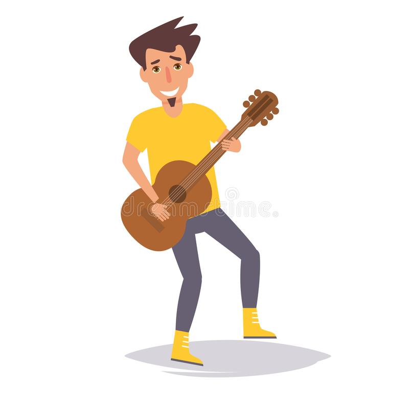 gitara jego gry wektor ilustracji