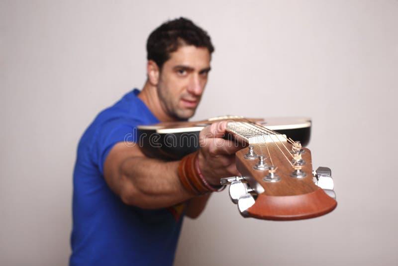 gitara jego mężczyzna obraz royalty free