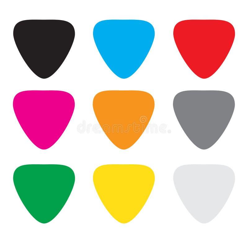 gitara kolorowi wybory ilustracja wektor