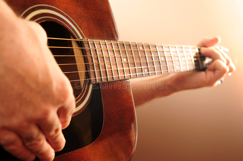 gitara osoby grać obrazy stock