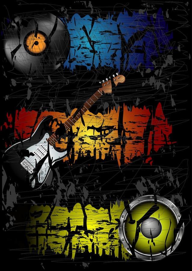 gitara plakata retro wektor ilustracja wektor