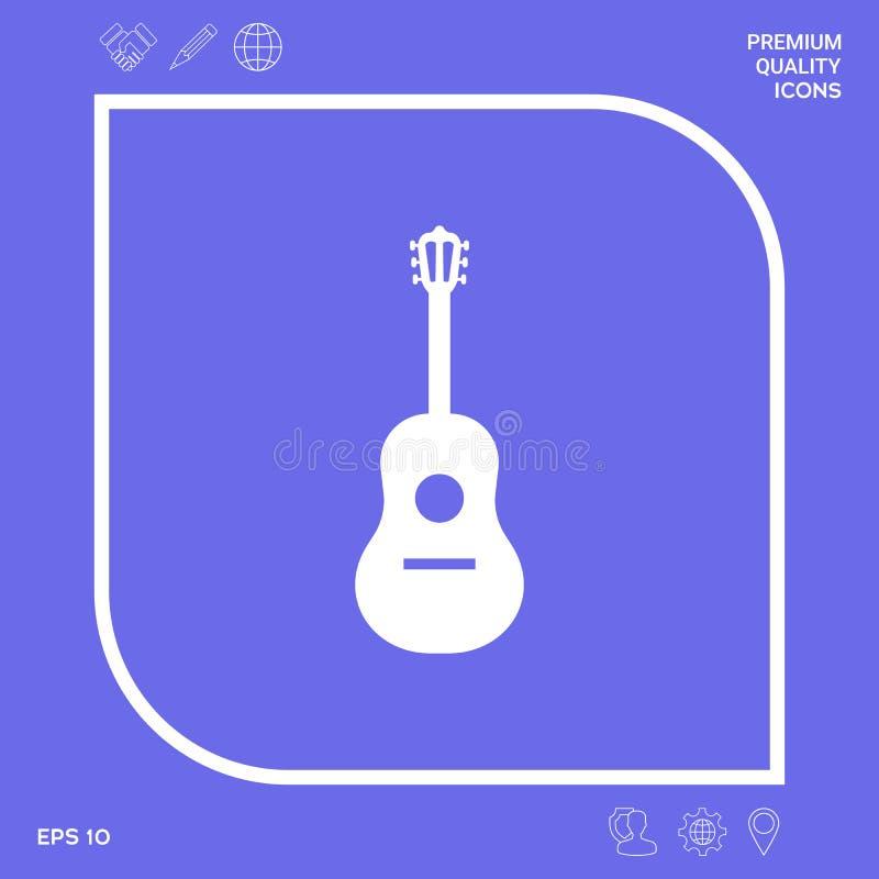Gitara symbolu ikona Graficzni elementy dla twój projekta ilustracji