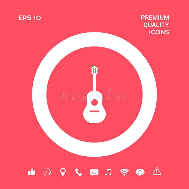 Gitara symbolu ikona Graficzni elementy dla twój projekta ilustracja wektor