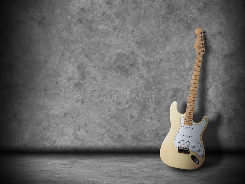 Gitara w pokoju obraz stock